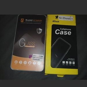 Iphone 11 case and 2 screen protectors